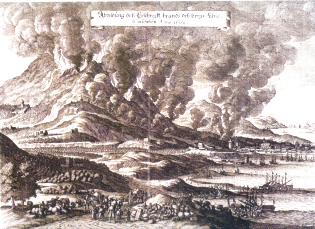 eruption volcan etna 1669